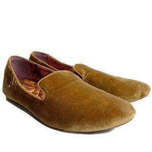 Birdies brown velvet loafers